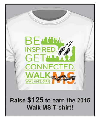 Walk MS 2015 T-shirt